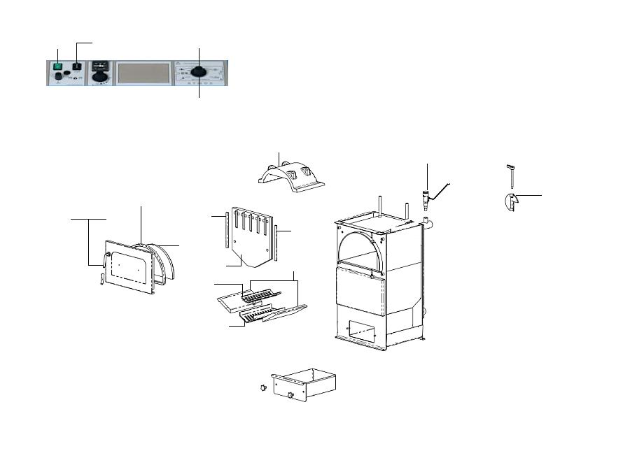 ATMOS D15P Ersatzteil Türverschluß Kesseltür komplett rechte Ausführung Standard